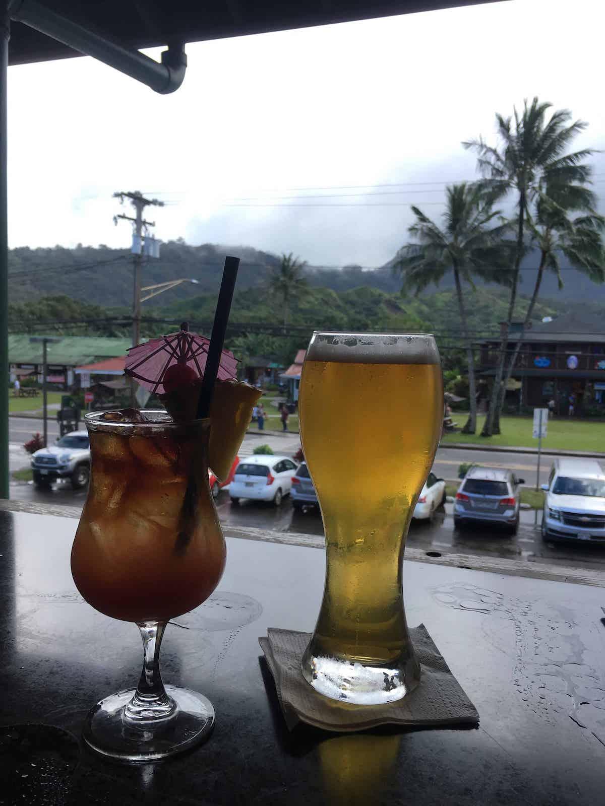 Cocktail bar in Hanalei