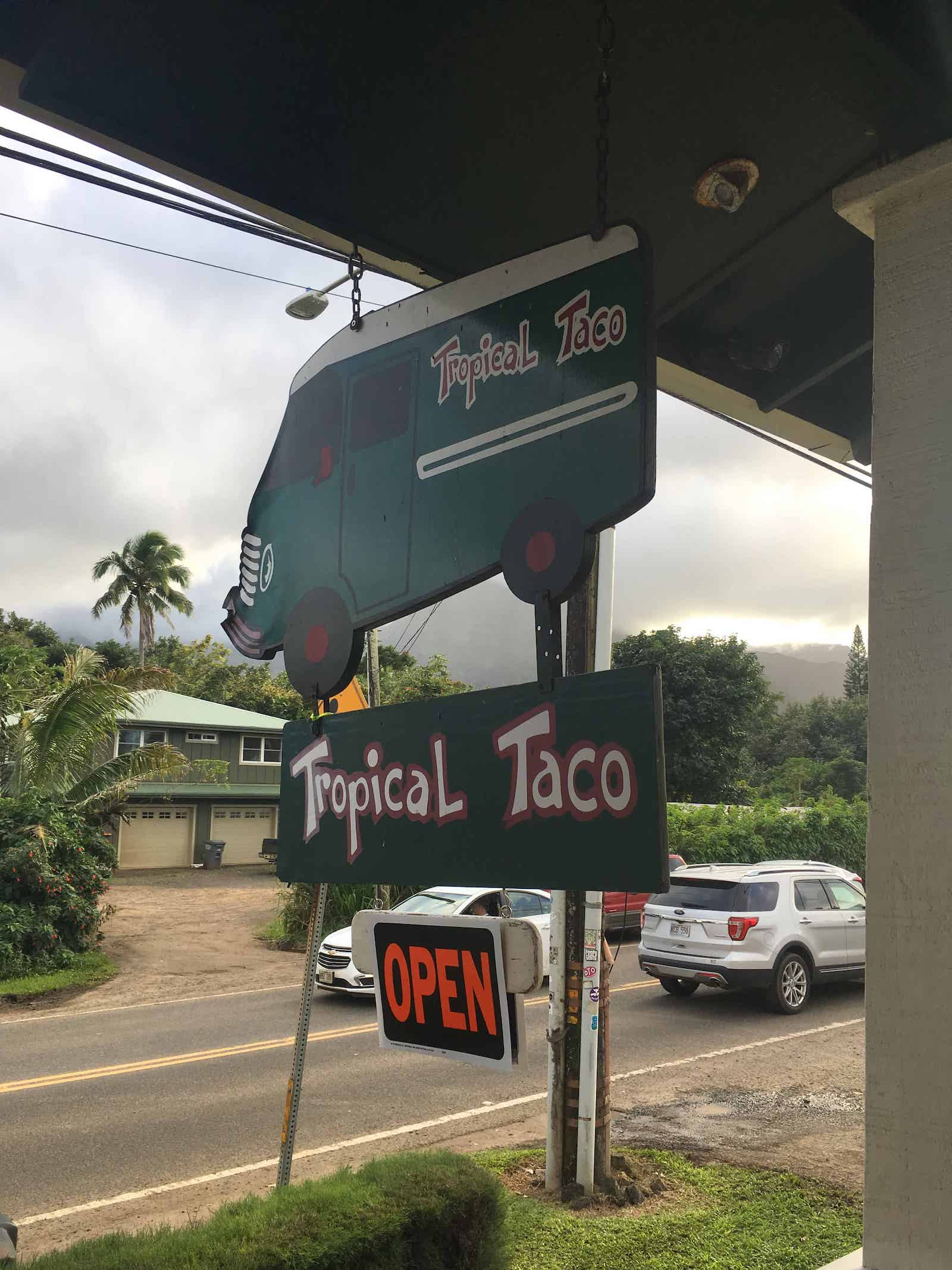Hanalei Taco place