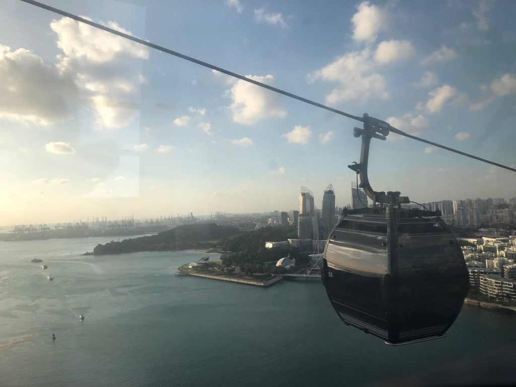 Singaore Cable Car view