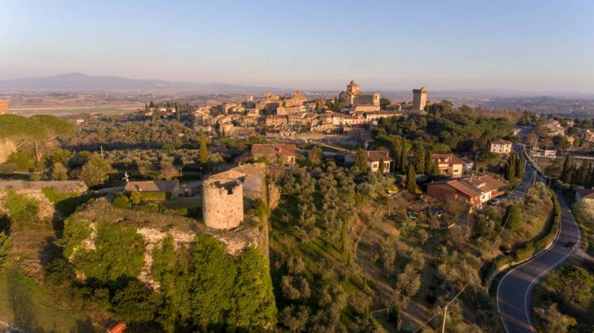 Medieval fortress Lucignano