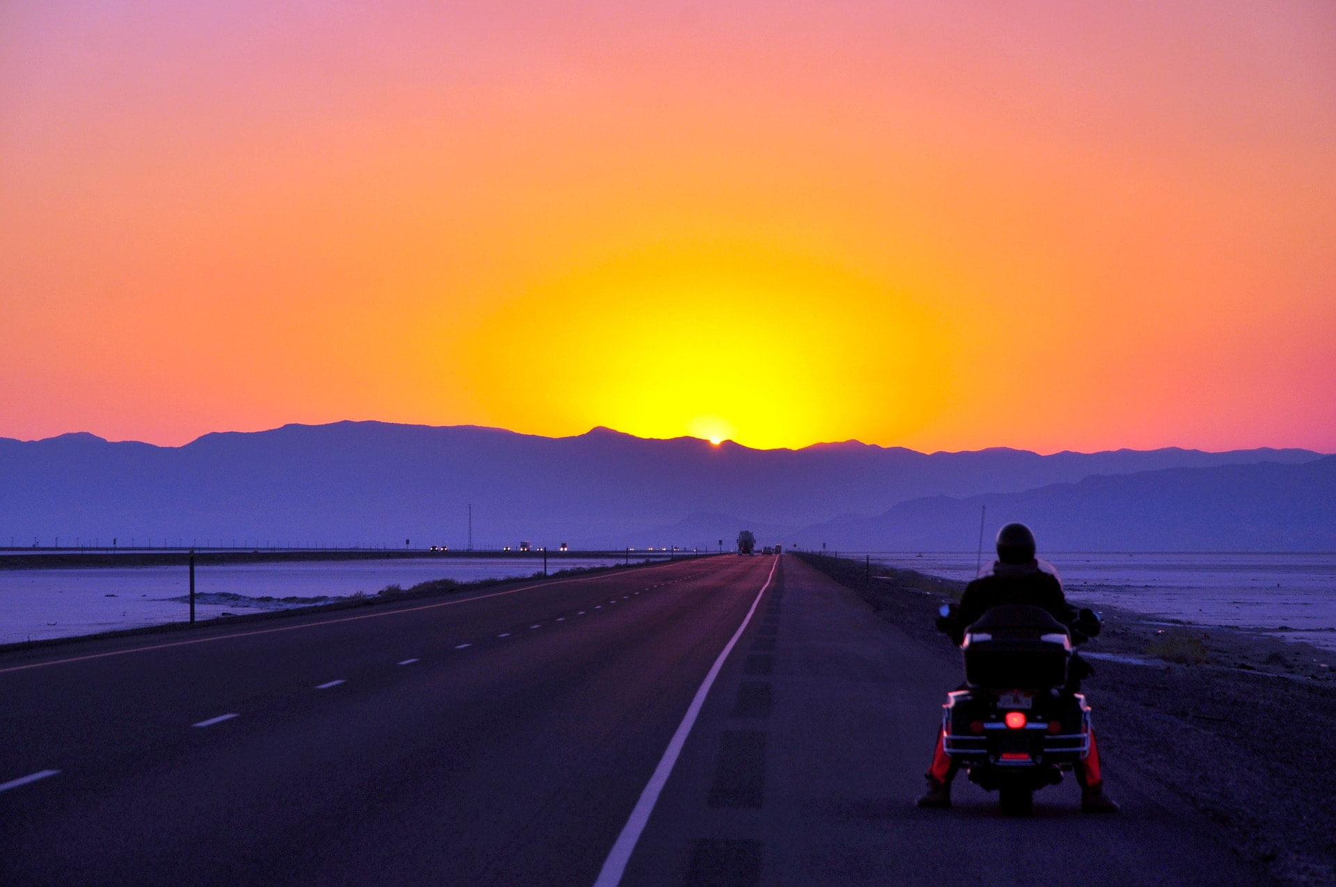 motorbike sunset roadtrip quotes